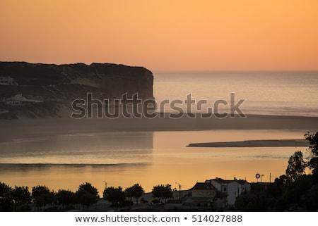 Beautiful Obidos Lagoon in Foz do Arelho, Portugal Stock photo © luissantos84