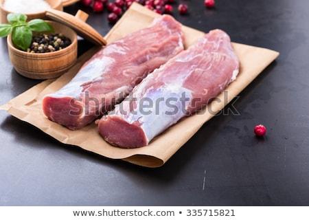 Ruw varkensvlees voedsel vers sla Stockfoto © Digifoodstock