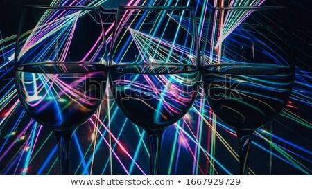Gafas vino tinto reflexión negro vino resumen Foto stock © DenisMArt