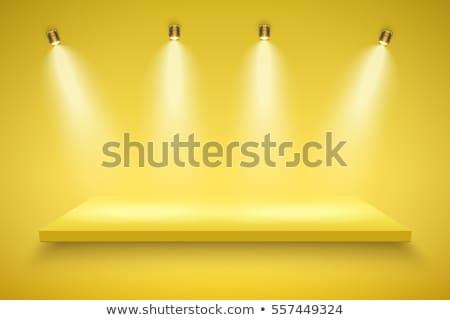 Presentazione bordo spot luci sfondo stanza Foto d'archivio © SArts