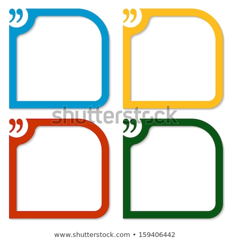 colorful set of four quotation marks Stock photo © SArts