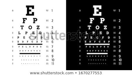Doctor ophthalmologist with alphabet  Stock photo © OleksandrO
