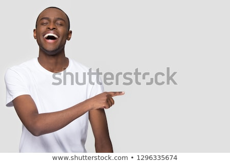 African-american businessman laughing out loud. Stock photo © RAStudio