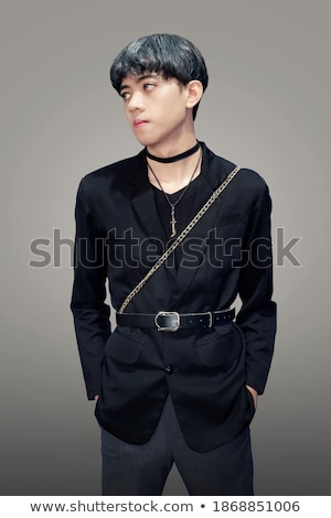 Indonesian boy in black outfit Stock photo © bluering