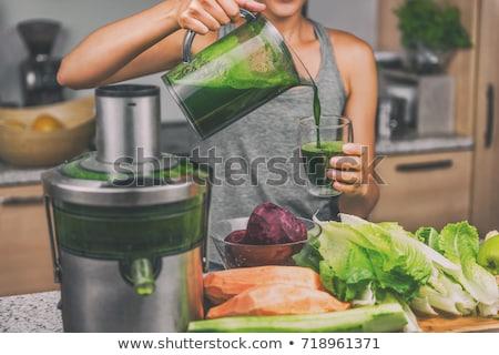 Zöldség diéta dzsúz üveg zöld koktél Stock fotó © M-studio