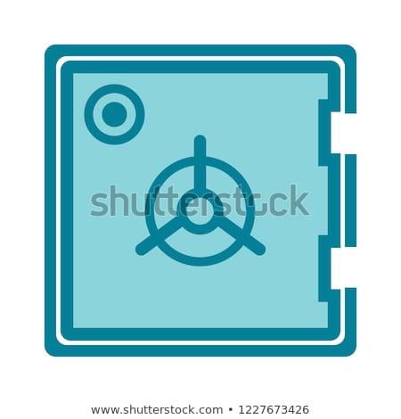 стиль иллюстрация безопасной вектора изолированный белый Сток-фото © curiosity
