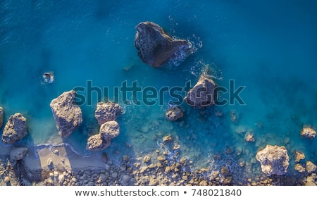 Beautiful top view coastline at Lefkada island in Greece Stock photo © ankarb