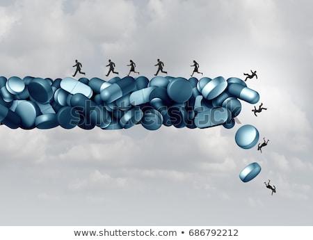 Egészség kockázat orvosi válság recept fájdalomcsillapító Stock fotó © Lightsource