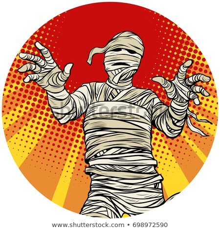 egyptian mummy walking pop art avatar character icon stock photo © studiostoks