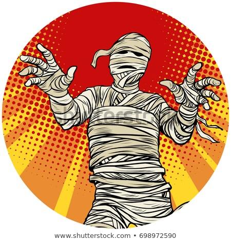 Egyptian mummy walking pop art avatar character icon Stock photo © studiostoks