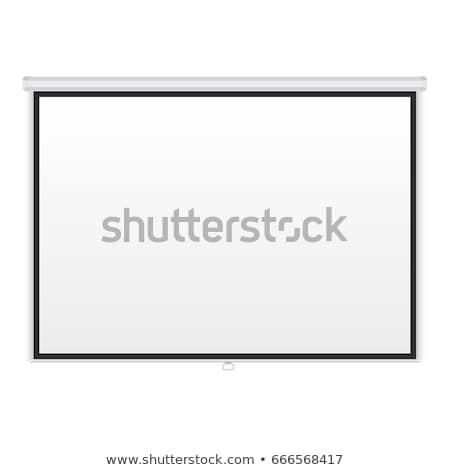 portable · projection · écran · isolé · blanche · affaires - photo stock © pikepicture