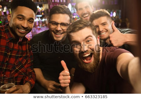 portrait of friends at bar stock photo © is2