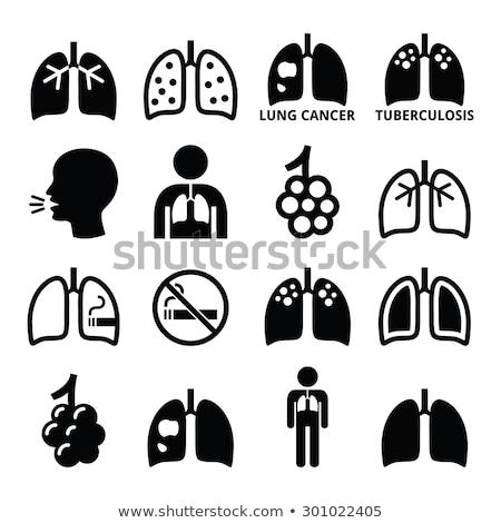 câncer · de · pulmão · enorme · lupa · câncer · médico - foto stock © olena