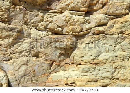 gebarsten · rock · gezicht · full · frame · licht · bruin - stockfoto © latent