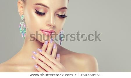 女性 美 モデル 真珠 手 女性 ストックフォト © IS2