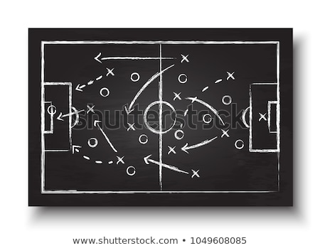 soccer strategy on the blackboard stock photo © romvo