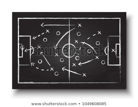 Fútbol estrategia pizarra táctica escuela fondo Foto stock © romvo