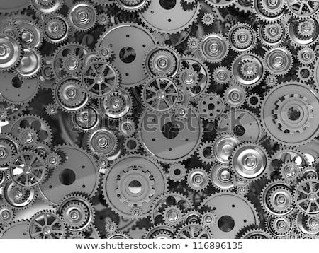 integratie · metaal · versnellingen · mechanisme · computer · communicatie - stockfoto © tashatuvango