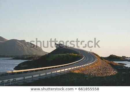 Yol Norveç Avrupa oto seyahat Stok fotoğraf © kyolshin