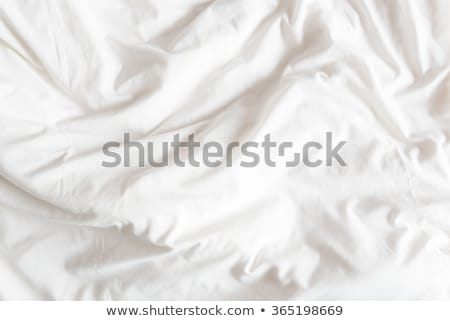 folded clothes on an unmade bed Stock photo © nito