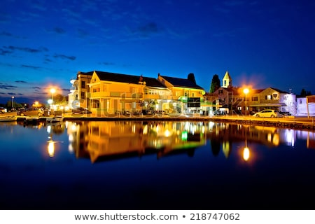 Stock photo: Town of Sukosan evening view of waterfront