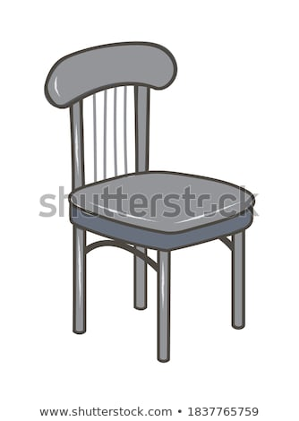 grey modern chair vector cartoon illustration stock photo © rastudio