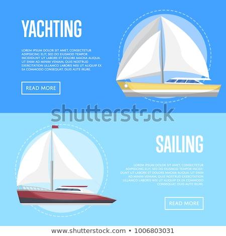 Mar folletos vista lateral veleros lujo náutico Foto stock © studioworkstock