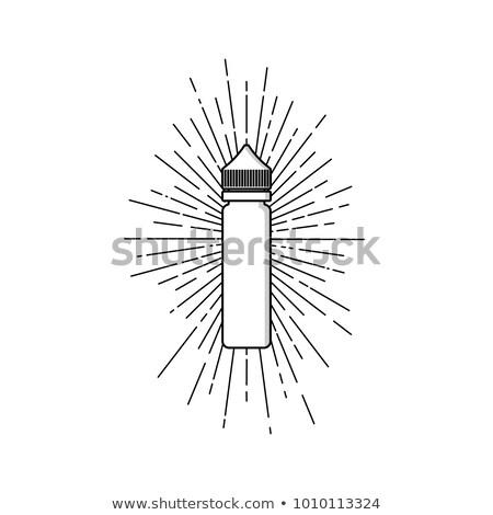 Személyes folyadék címke kitűző vektor művészet Stock fotó © vector1st