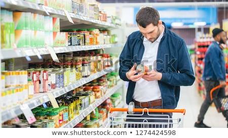 Man kopen goederen kruidenier supermarkt Stockfoto © wavebreak_media