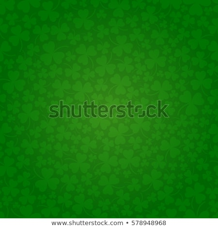 Saint Patricks Day Background Design with Green Clovers Leaf. Irish Lucky Holiday Vector Illustratio Stock photo © articular