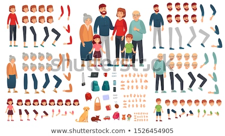 set of various young children and dogs stock photo © bluering