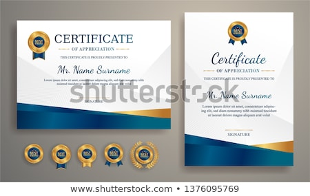 modern blue professional certificate template Stock photo © SArts