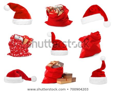 サンタクロース · エルフ · 赤 · 袋 · クリスマス - ストックフォト © orensila
