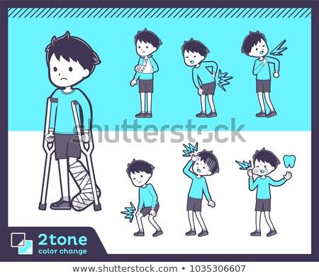 2tone type blue clothing boy_set 08 Stock photo © toyotoyo