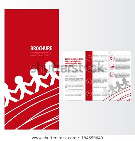 Flyer шаблон красный стороны печать белый Сток-фото © orson