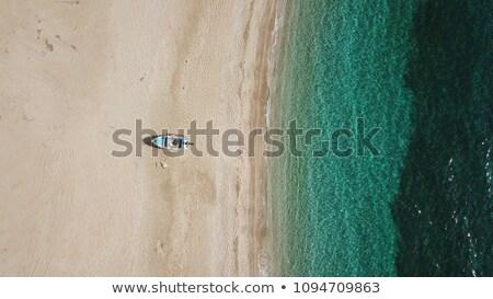 Magányos mediterrán sziget légifelvétel szigetvilág Horvátország Stock fotó © xbrchx