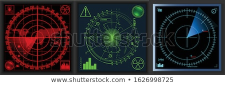 Red radar screen. Vector illustration for your design Stock photo © olehsvetiukha