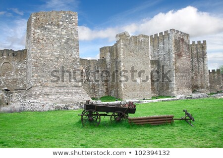 Old cart in Smederevo Fortress in Serbia Stock photo © boggy