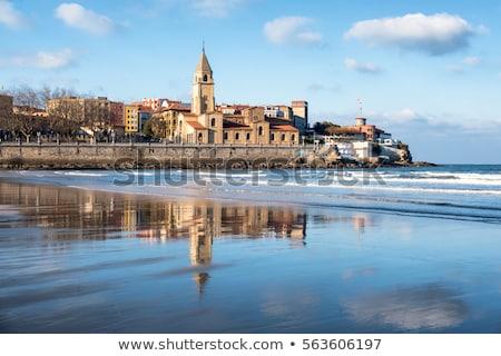 Kirche Spanien Gebäude Landschaft Hintergrund Europa Stock foto © lunamarina