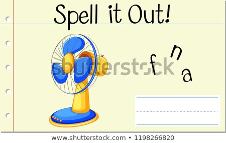 Varázsige angol szó ventillátor illusztráció iskola Stock fotó © bluering