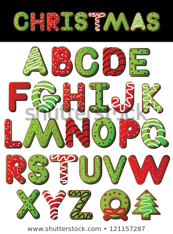 natal · alfabeto · completo · conjunto · isolado · branco - foto stock © grafvision