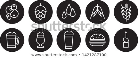 Beer Ingredients Set and Snack Vector Illustration Stock photo © robuart