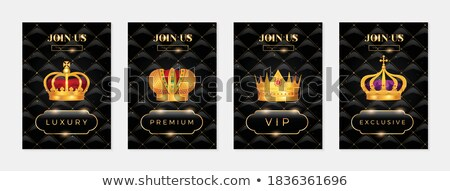 Crown Regal Power and Banner Vector Illustration Stock photo © robuart