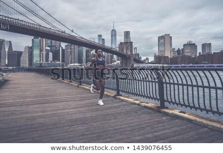 Running on Brooklyn bridge Stock photo © iko