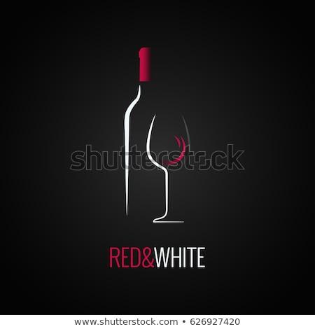 Vidro garrafa de vinho símbolo logotipo assinar vetor Foto stock © blaskorizov