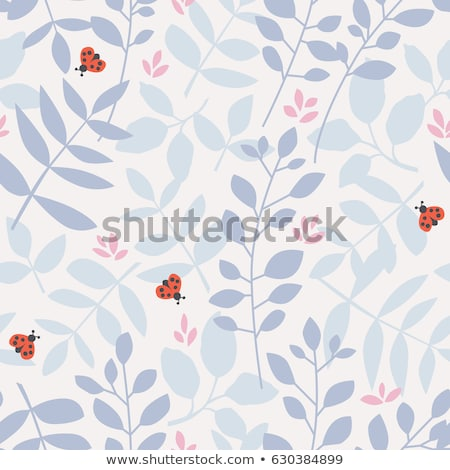 Seamless background with ladybugs and leaves Stock photo © colematt
