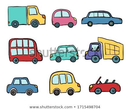 грузовик рисованной болван икона быстро Сток-фото © RAStudio