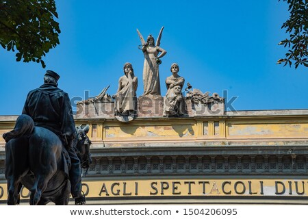 Monument to Giuseppe Garibaldi in Bologna Stock photo © boggy
