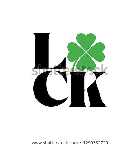 Irlandês festival símbolo sortudo dia de São Patricio natureza morta Foto stock © grafvision