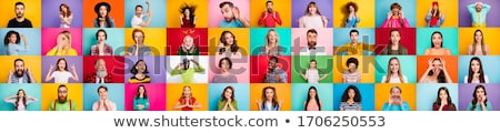 Expressões faciais ilustração diferente feliz grupo desenho Foto stock © colematt